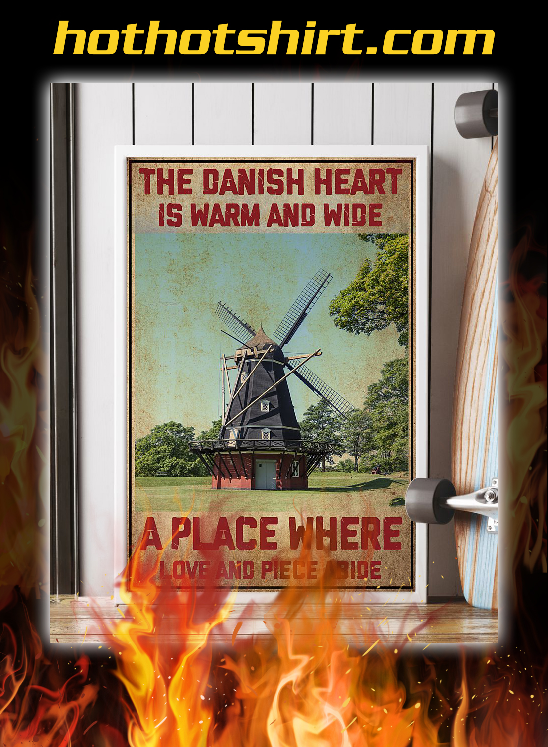 Denmark the danish heart is warm and wide a place where poster 2