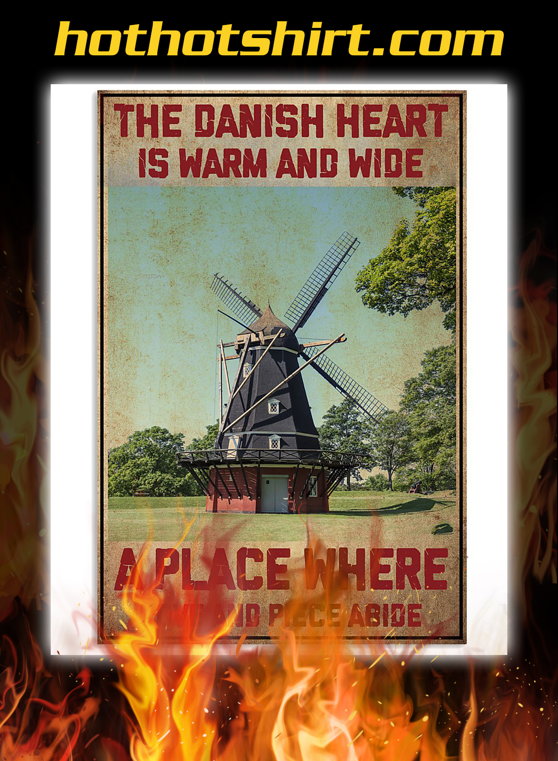 Denmark the danish heart is warm and wide a place where poster