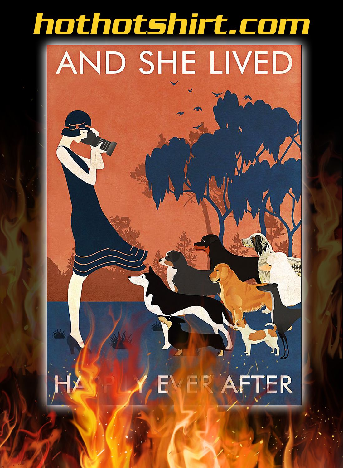 Dogs and she lived happily ever after poster 1