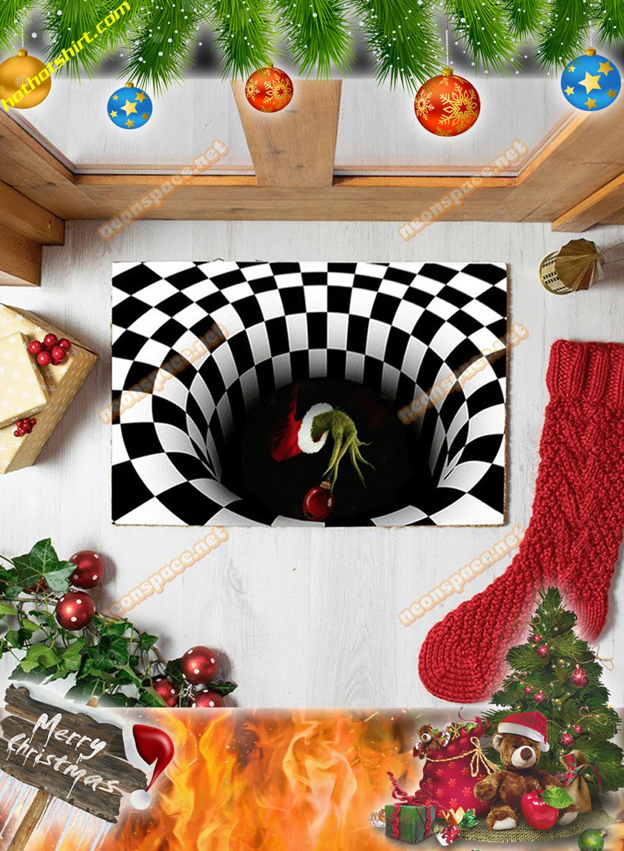 Grinch hand christmas 3D illusion doormat 1