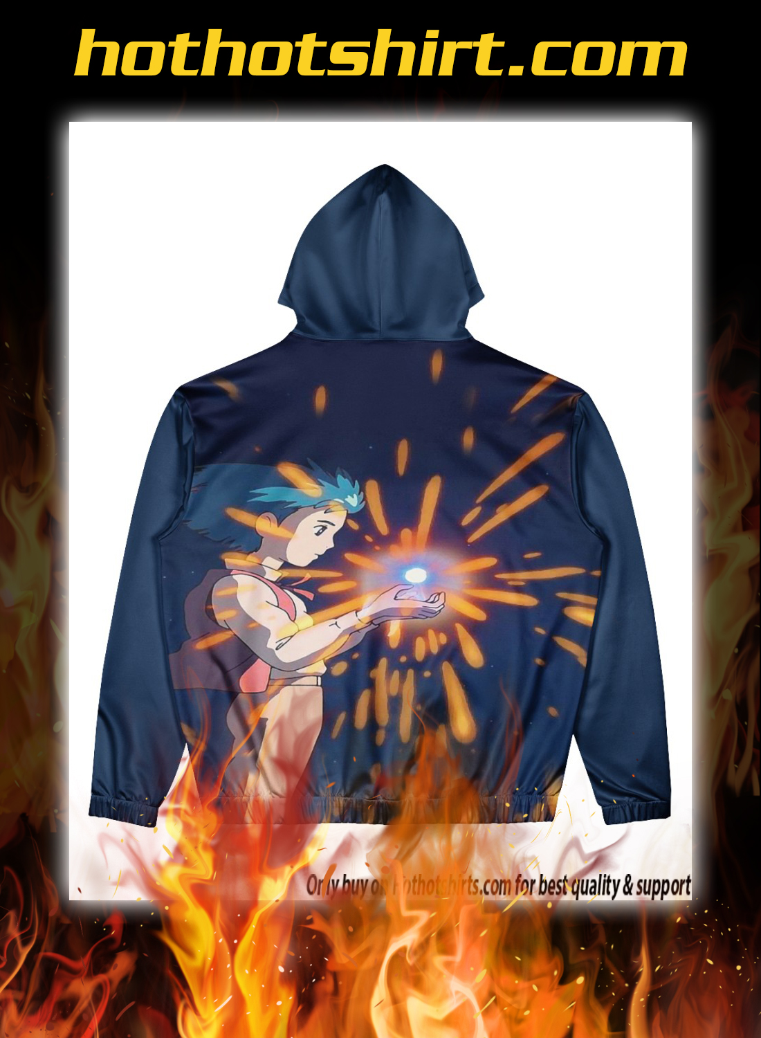 Howl's Moving Castle 3d all over print hoodie 2