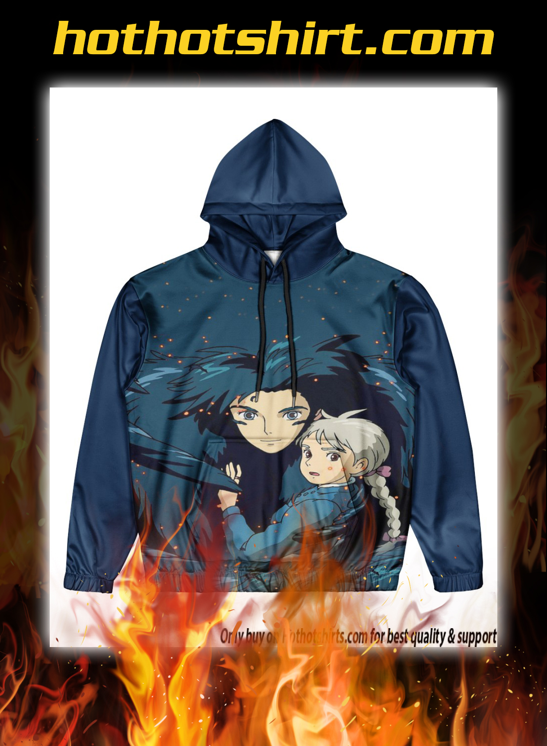 Howl's Moving Castle 3d all over print hoodie 3