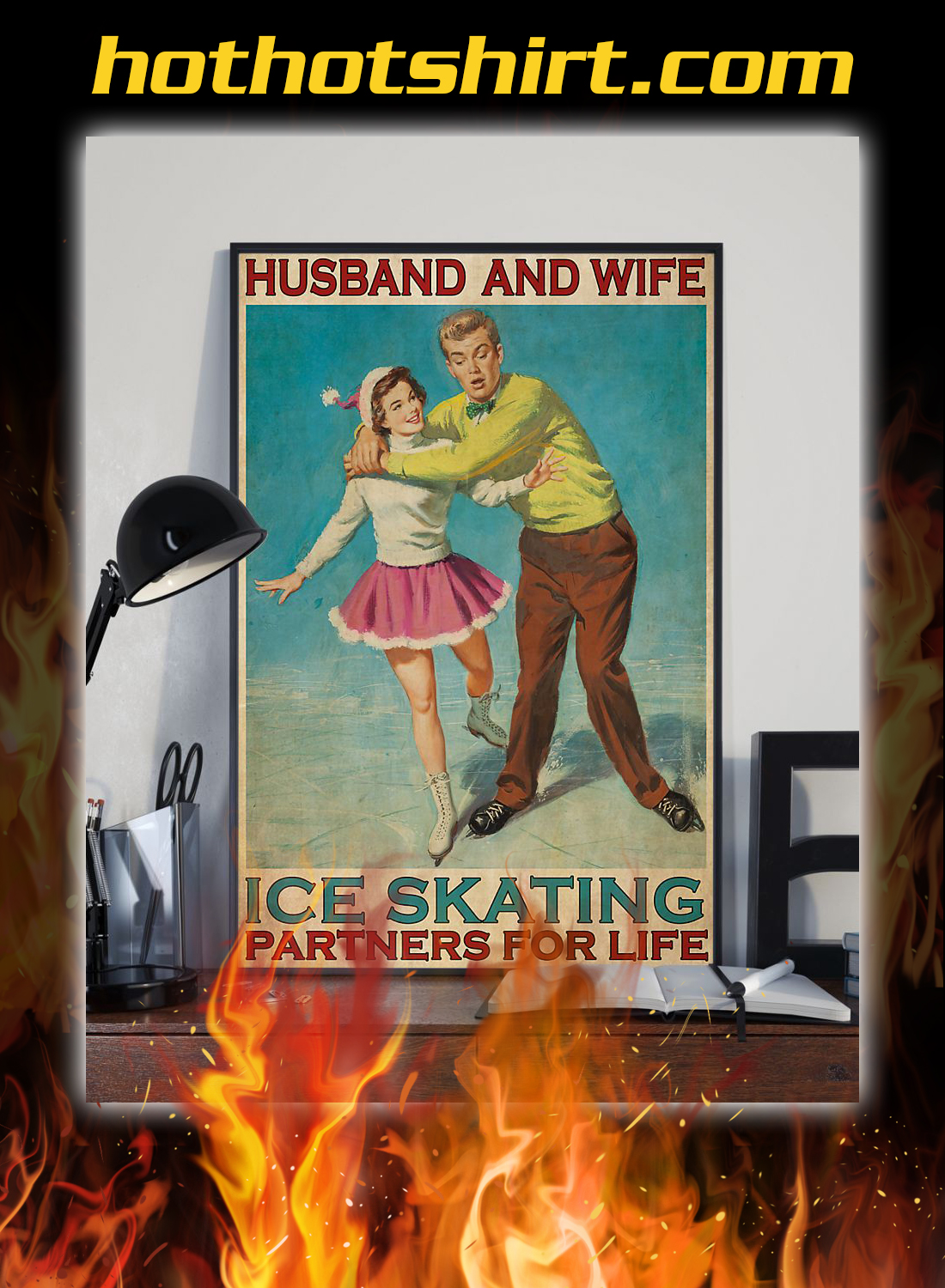 Husband and wife ice skating partners for life poster 1