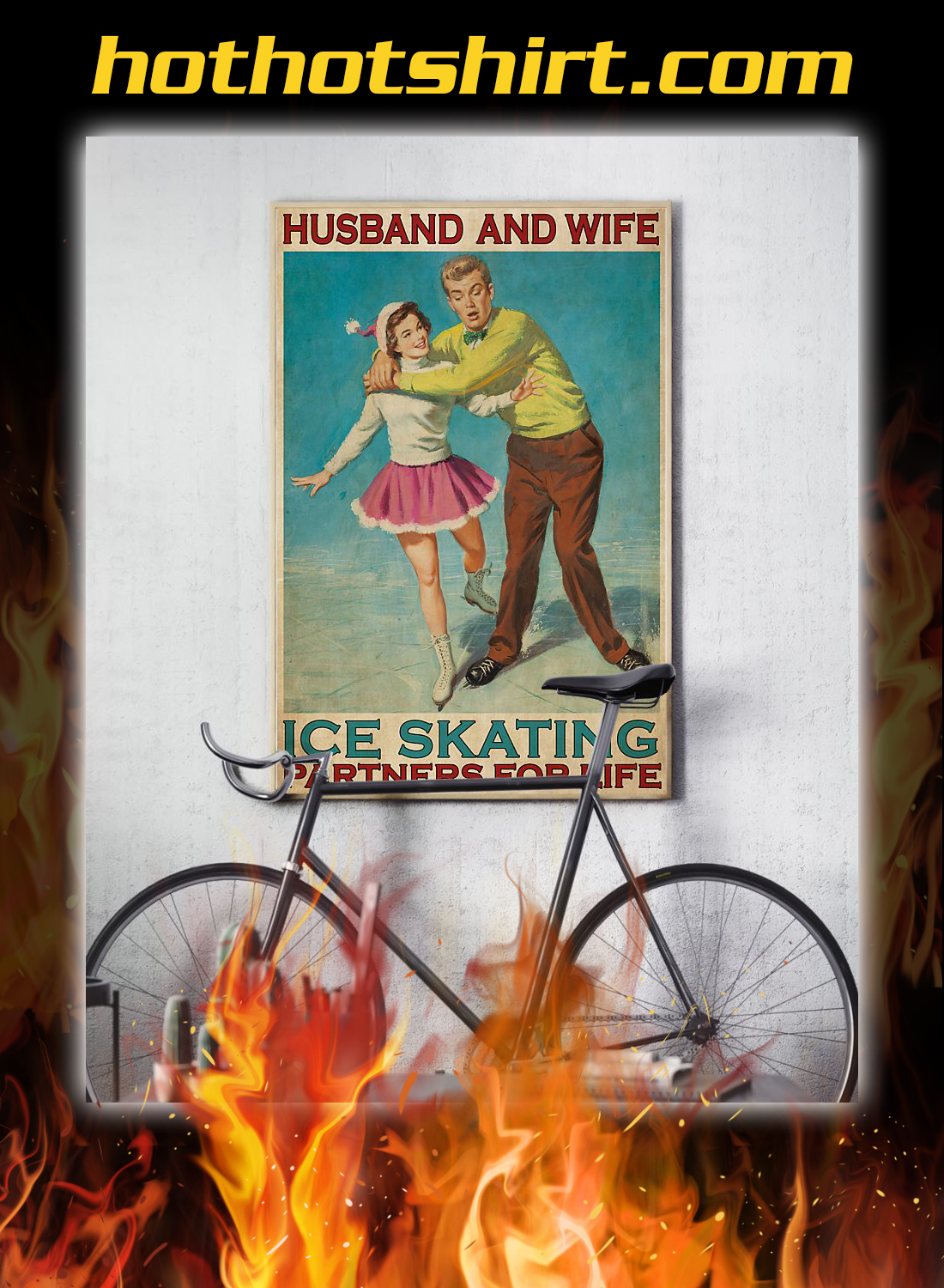 Husband and wife ice skating partners for life poster 3