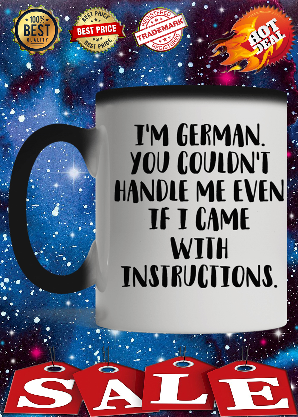 I'm german you couldn't handle me even if i came with instructions mug 1