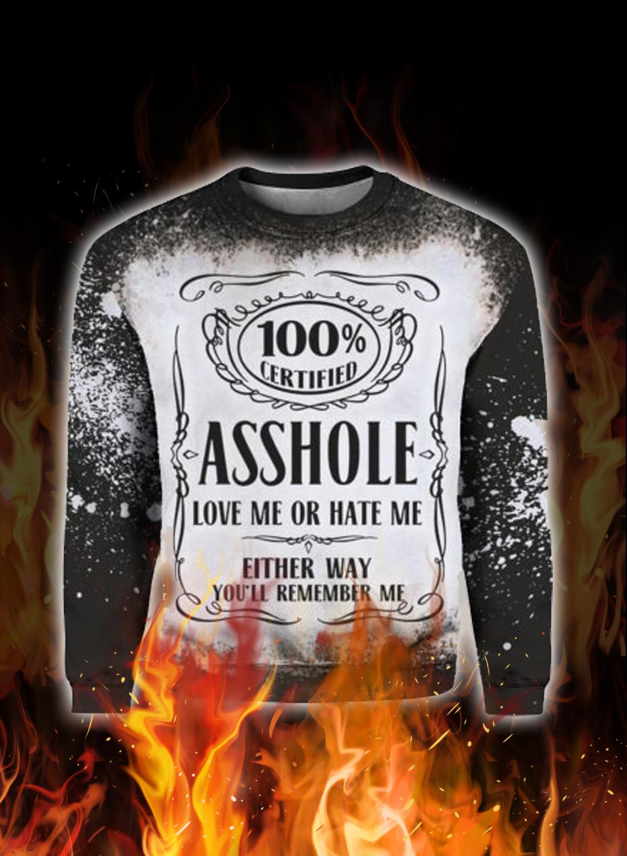 Jack daniel's asshole love me or hate me 3d hoodie 2