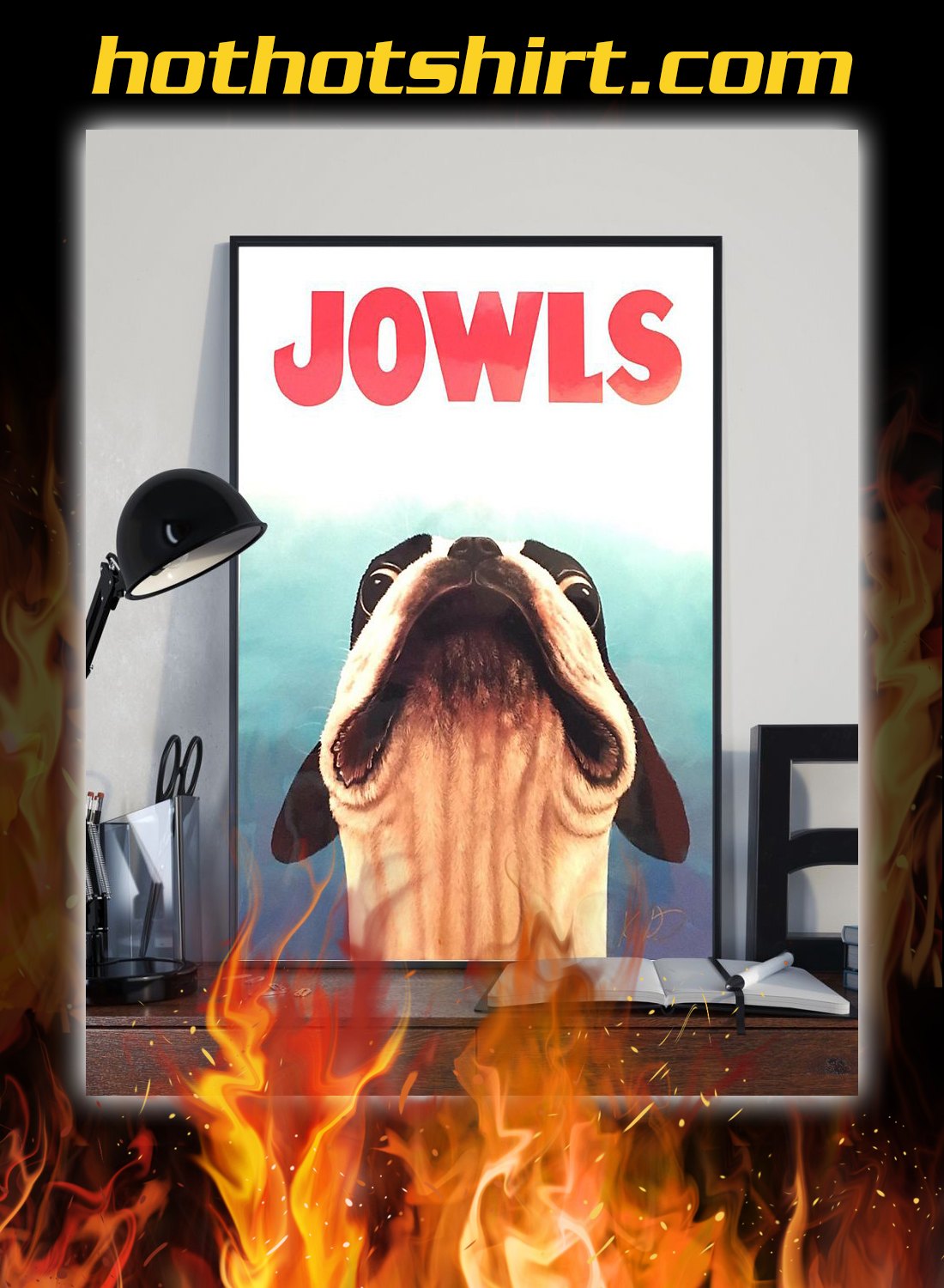 Jowls boston terrier jaws movie poster 1