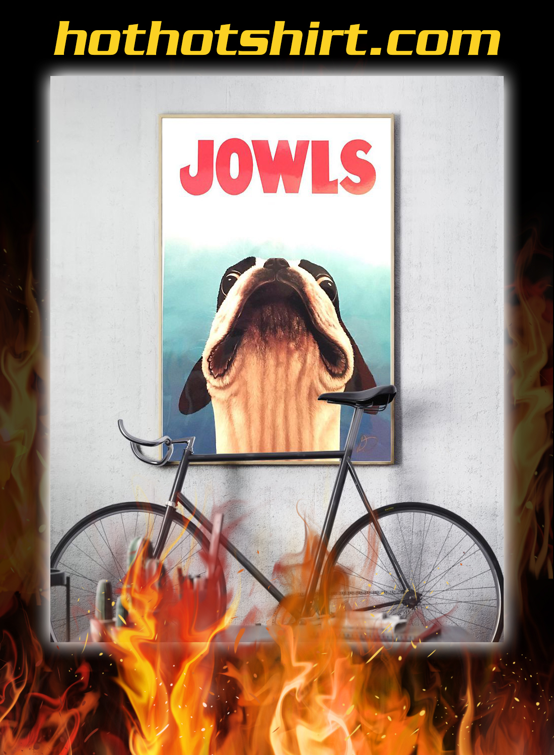 Jowls boston terrier jaws movie poster 3