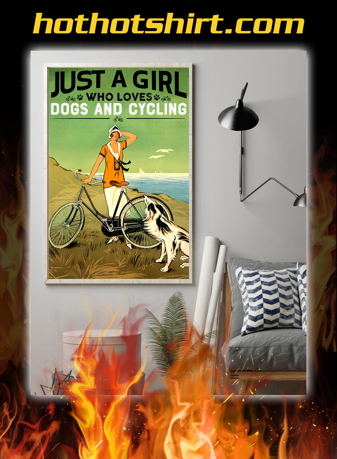 Just a girl who loves dogs and cycling poster 1