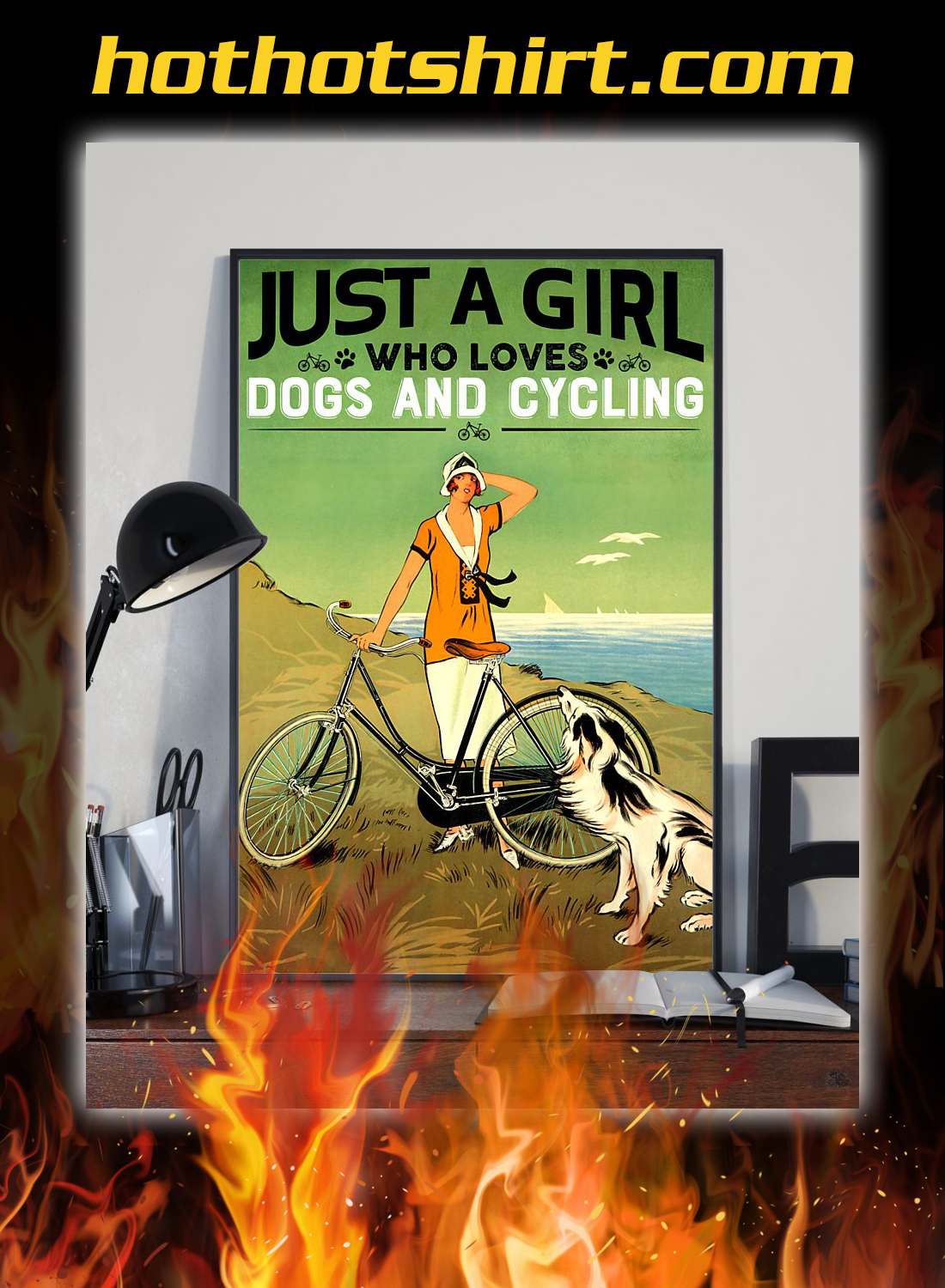 Just a girl who loves dogs and cycling poster 2