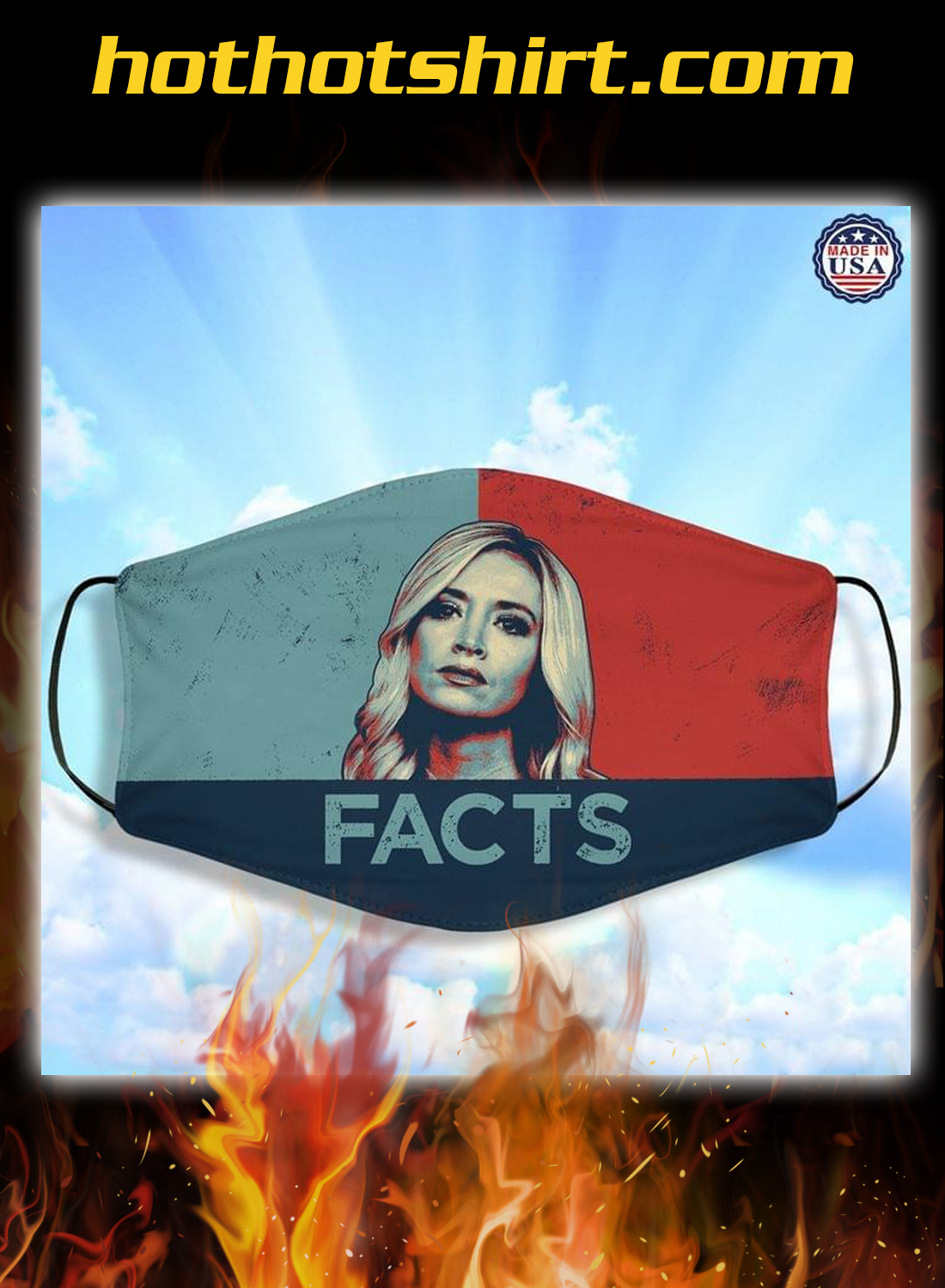 Kayleigh McEnany facts face mask - detail