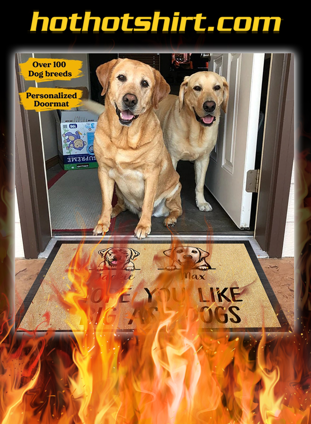 Labrador hope you like big ass dogs personalized custom name doormat - pic 1