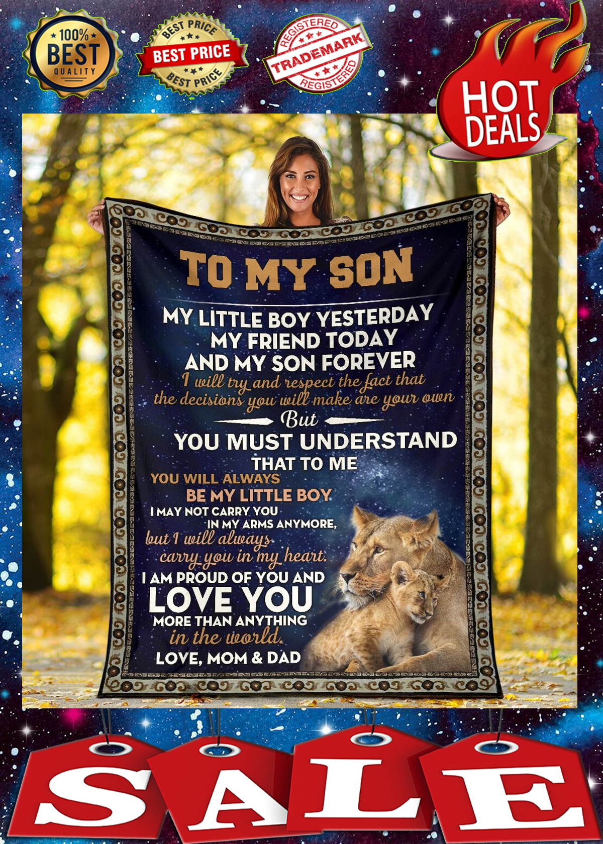 Lion to my son my little boy yesterday blanket 2
