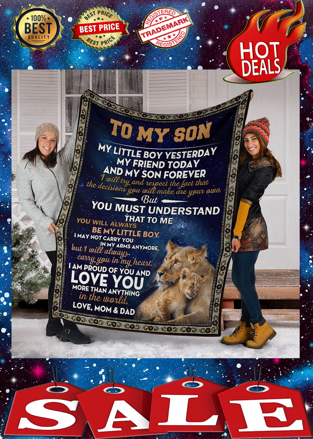 Lion to my son my little boy yesterday blanket 3