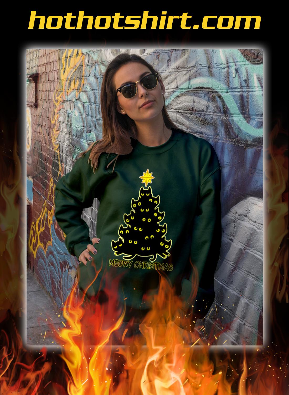 Meowy christmas tree ugly sweater 1