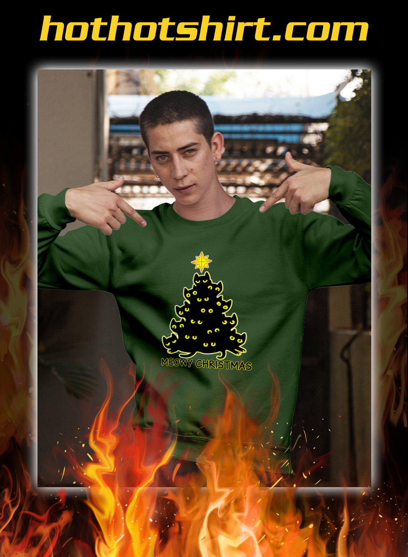Meowy christmas tree ugly sweater 2