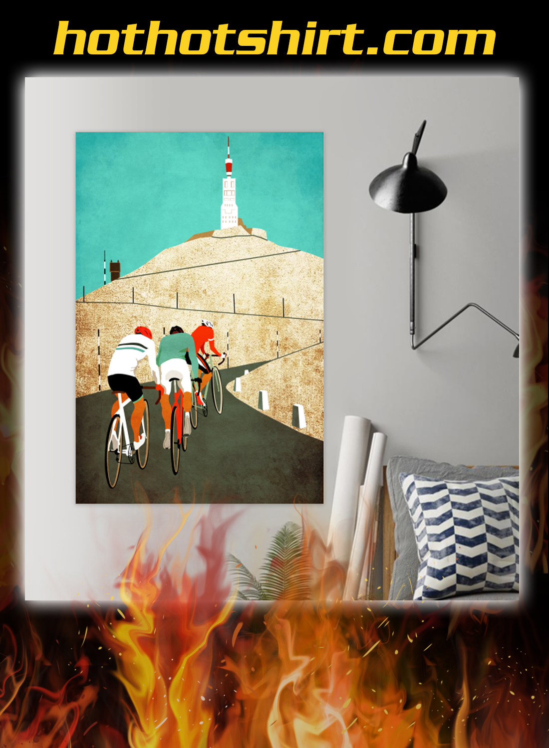 Mount ventoux road cycling poster 1