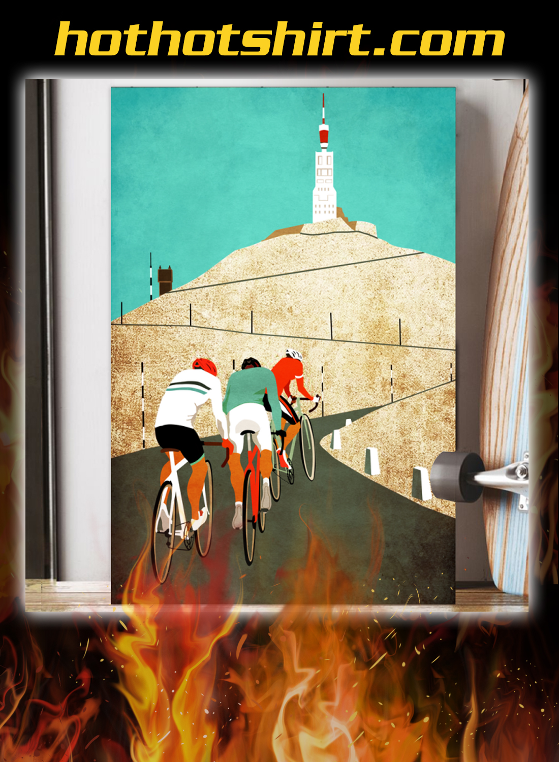 Mount ventoux road cycling poster 2