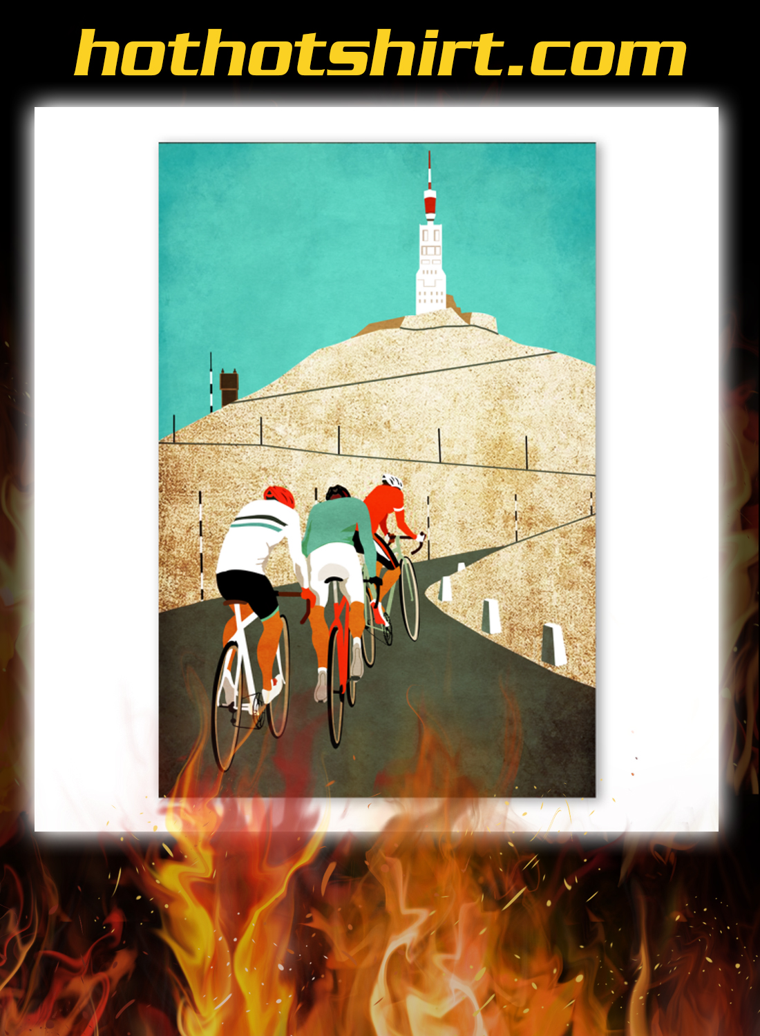 Mount ventoux road cycling poster 3