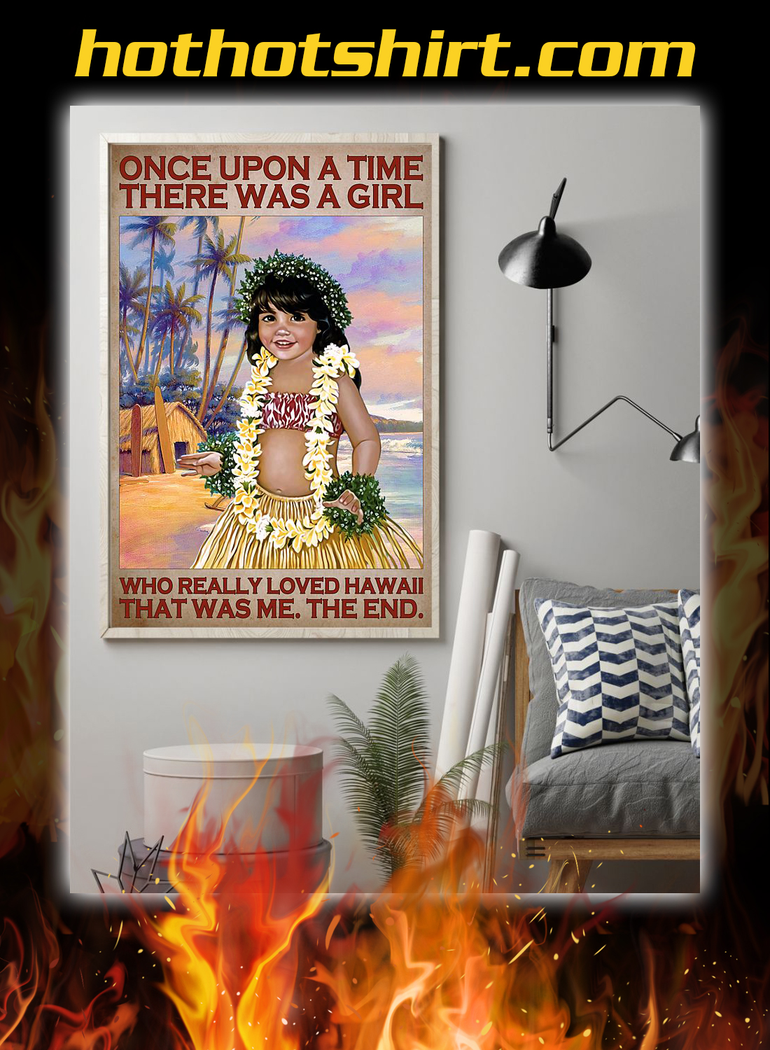 Once upon a time there was a girl who really loved hawaii poster 1