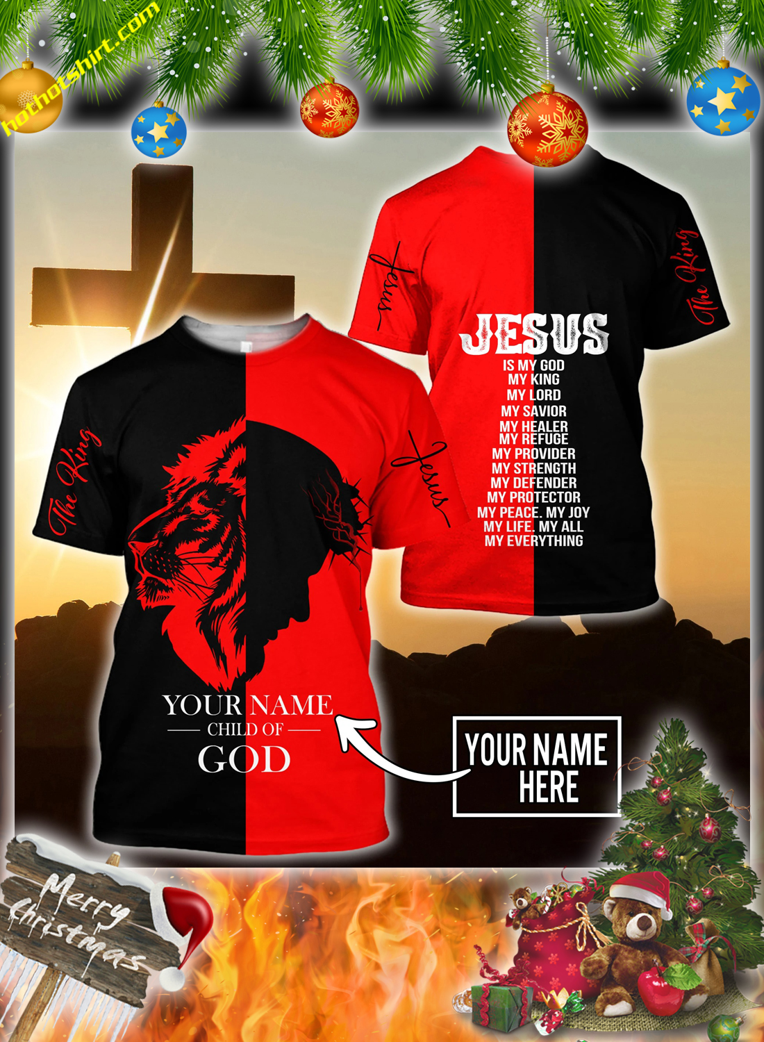 Peronalized custom name Jesus child of god 3d all over printed hoodie and shirt 5