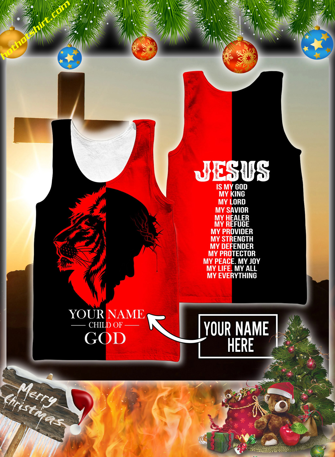 Peronalized custom name Jesus child of god 3d all over printed hoodie and shirt 6