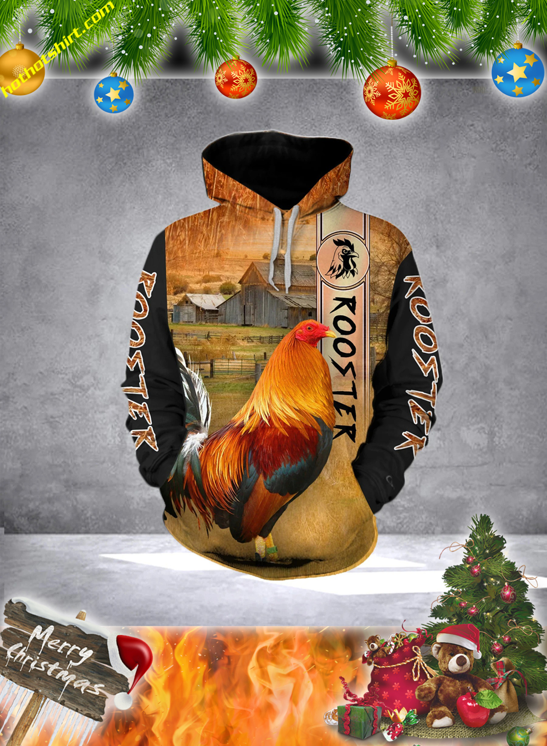 Premium Rooster 3D All Over Printed Hoodie and Shirt 1