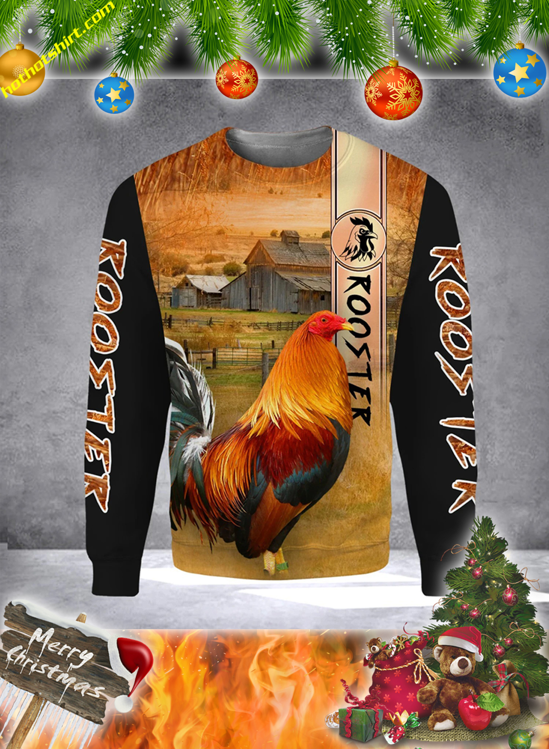 Premium Rooster 3D All Over Printed Hoodie and Shirt 3