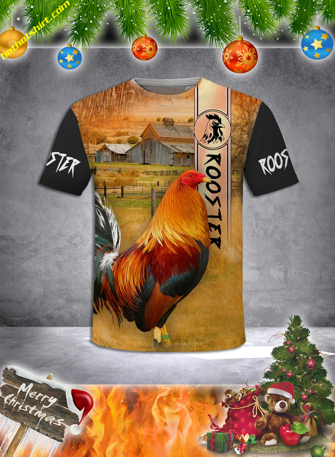 Premium Rooster 3D All Over Printed Hoodie and Shirt 4