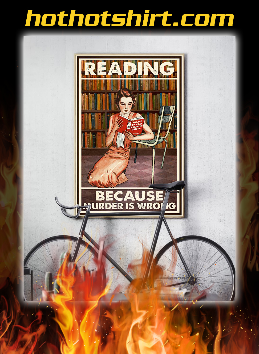 Reading because murder is wrong poster 2