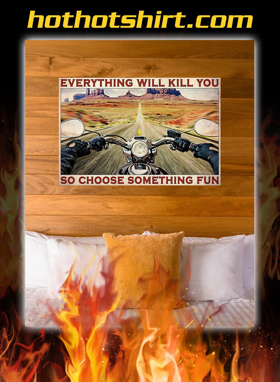 Road trip motorbike choose something fun poster 1