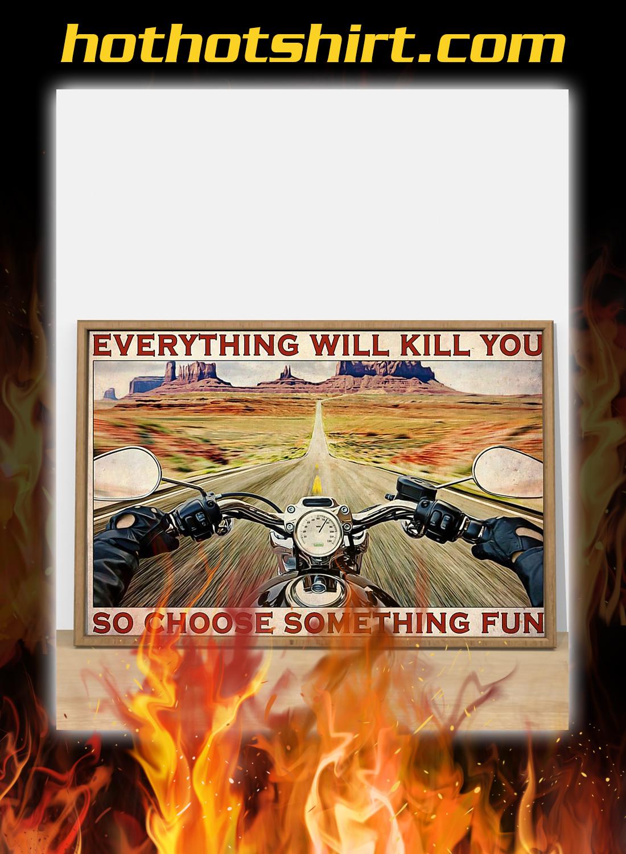 Road trip motorbike choose something fun poster 2
