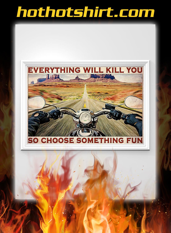 Road trip motorbike choose something fun poster 3