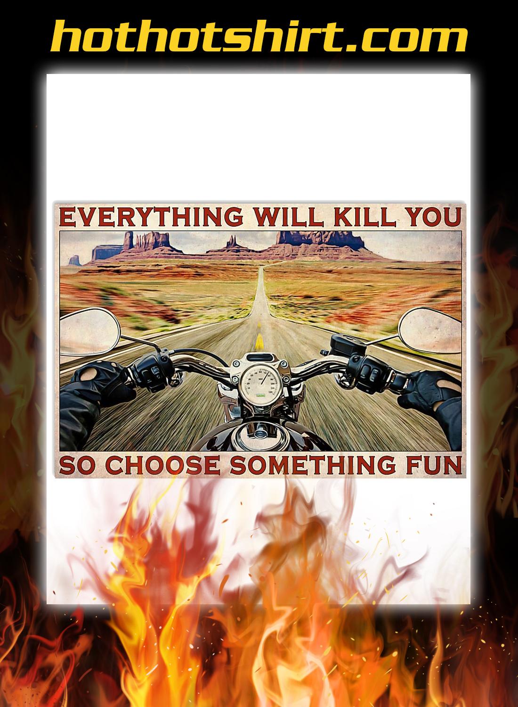 Road trip motorbike choose something fun poster