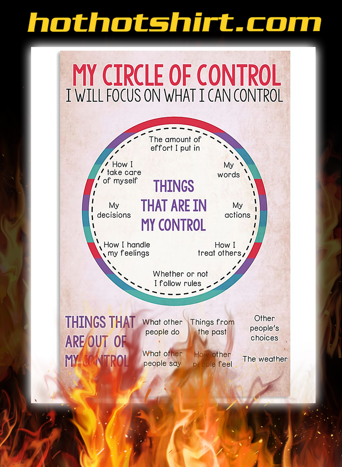 Social worker my circle of control poster 1