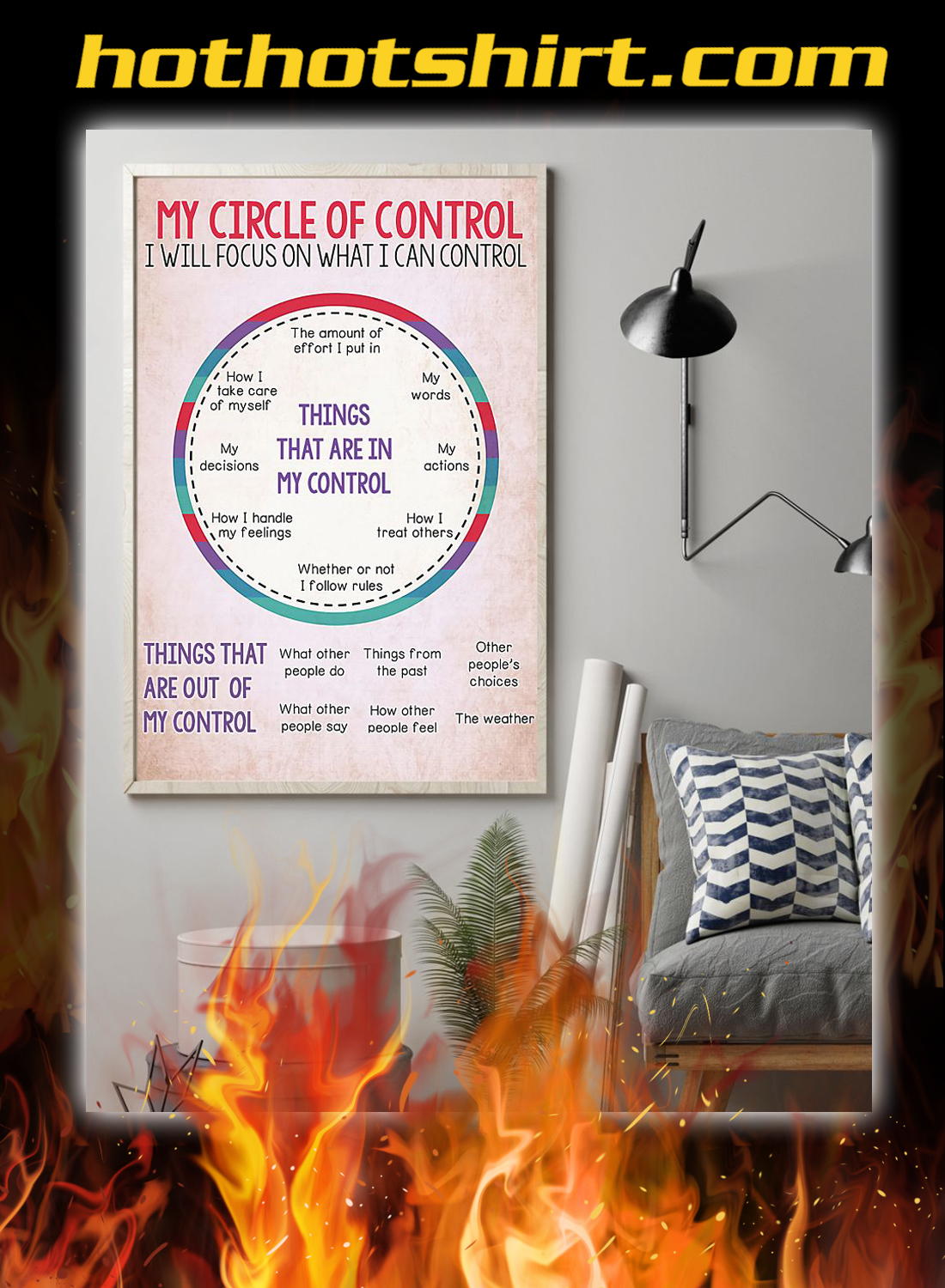 Social worker my circle of control poster 2