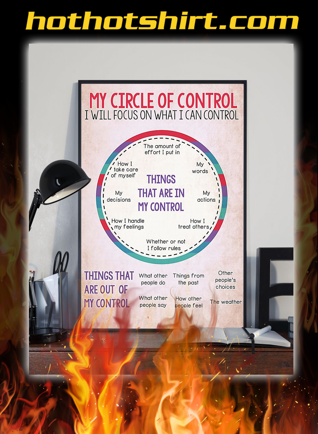 Social worker my circle of control poster 3