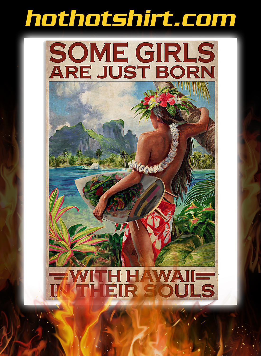 Some girls are just born with hawaii in their souls poster 2