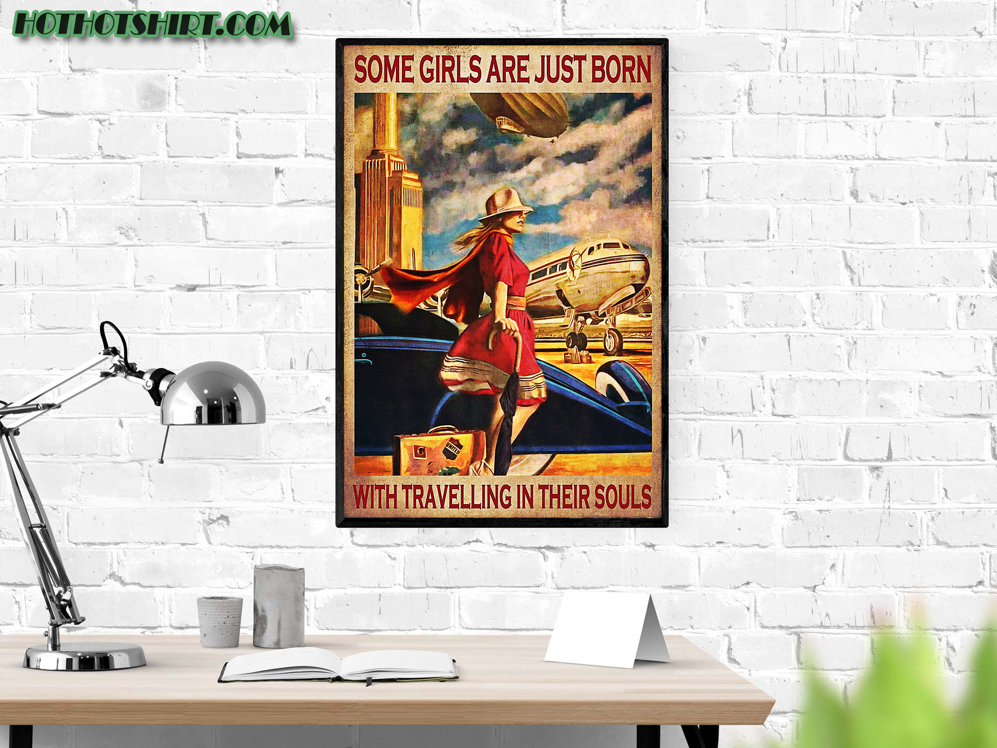 Some girls are just born with travelling in their souls poster 2