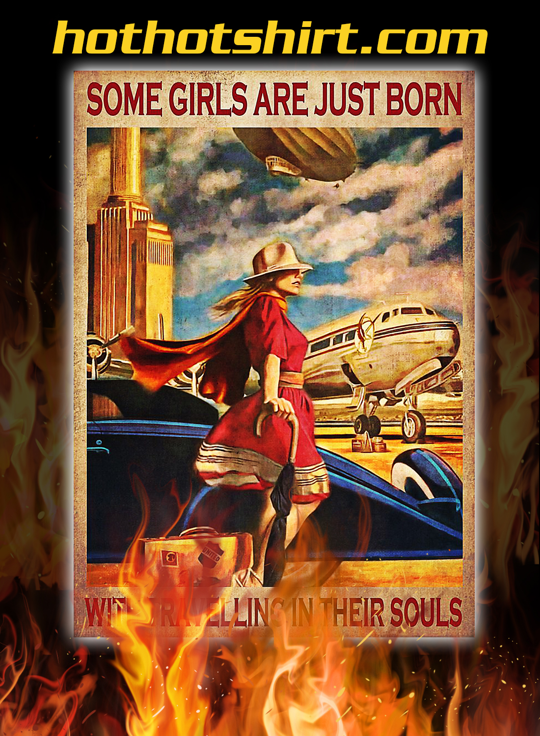 Some girls are just born with travelling in their souls poster 3