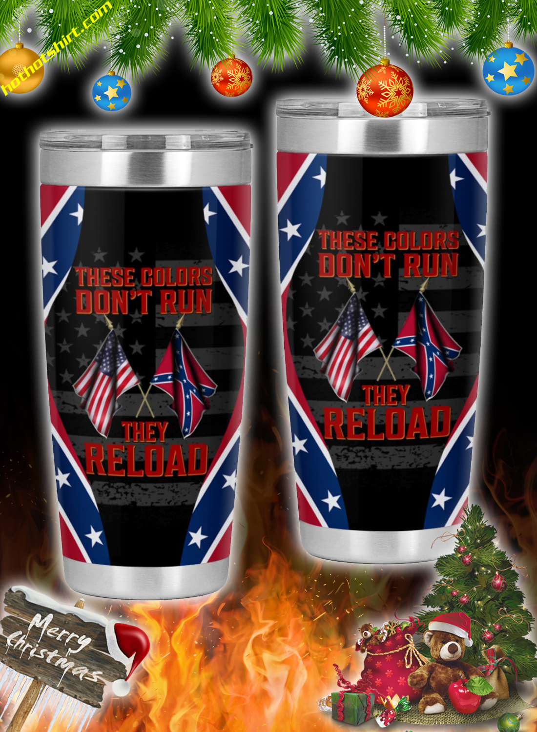 Southern united states these colors don't run they reload tumbler 2
