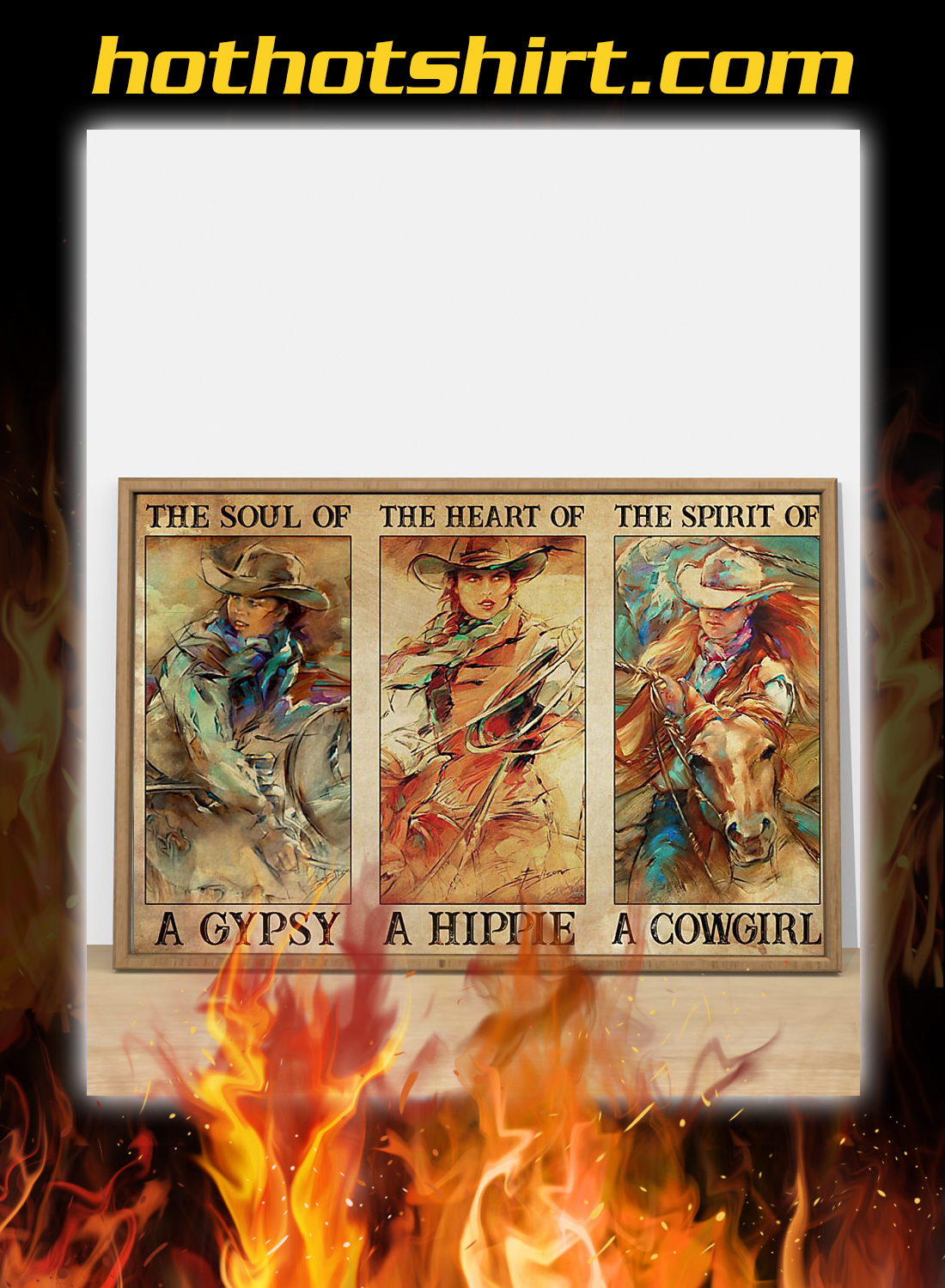 Spirit Of A Cowgirl Poster 2