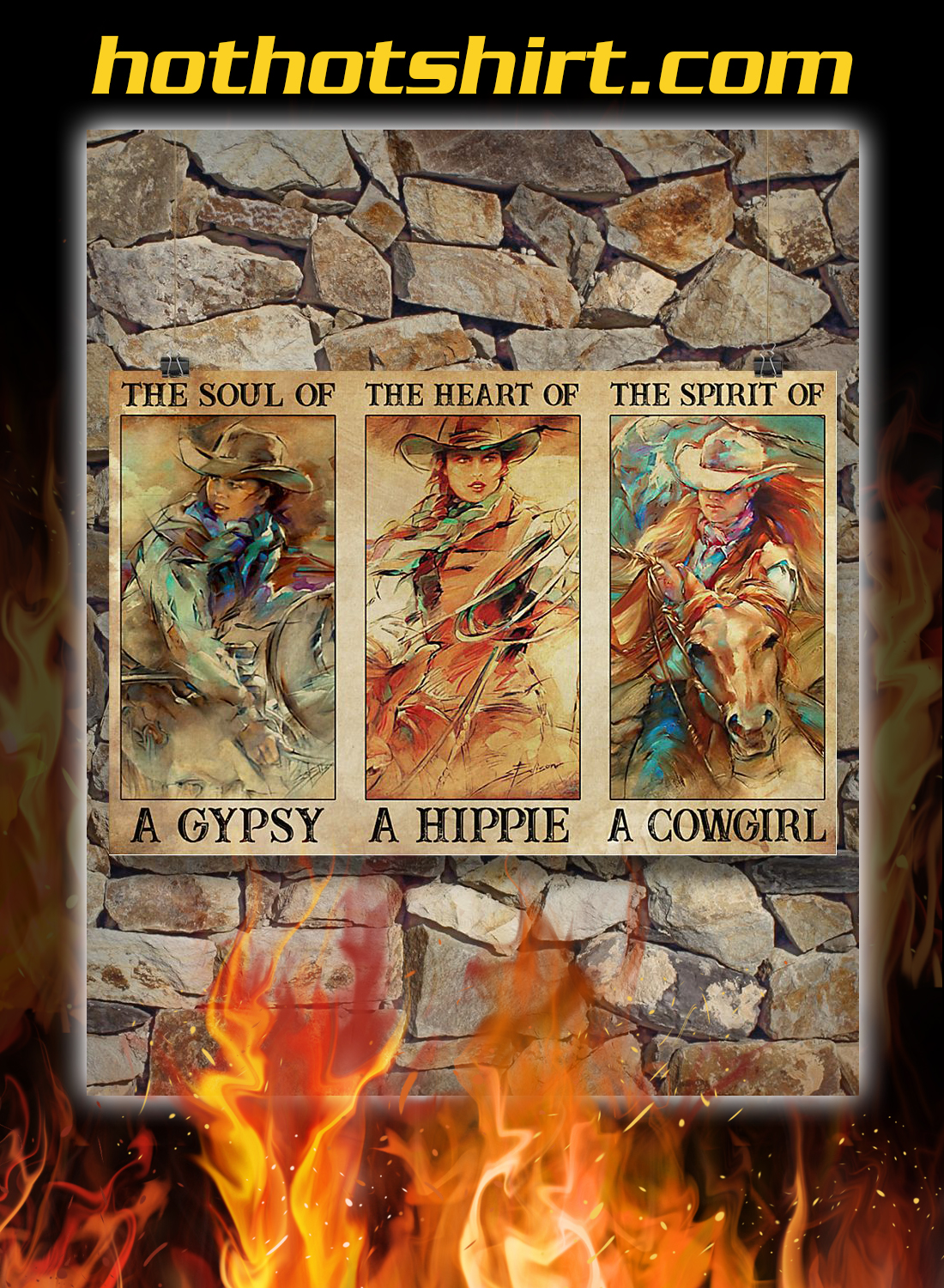 Spirit Of A Cowgirl Poster 3