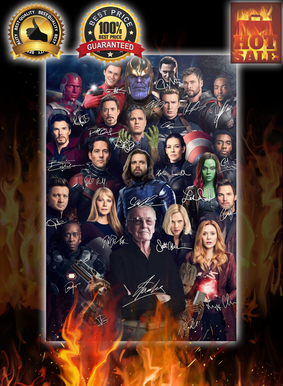 Stan lee avengers signature poster 2