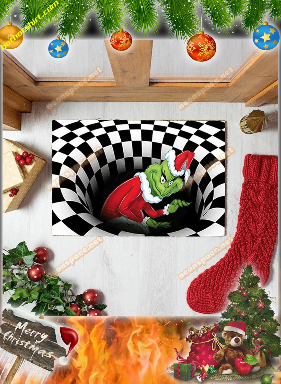 Stolen grinch christmas 3D illusion doormat 1