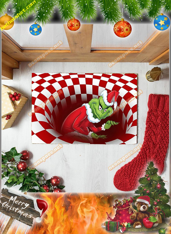 Stolen grinch christmas 3D illusion doormat 2
