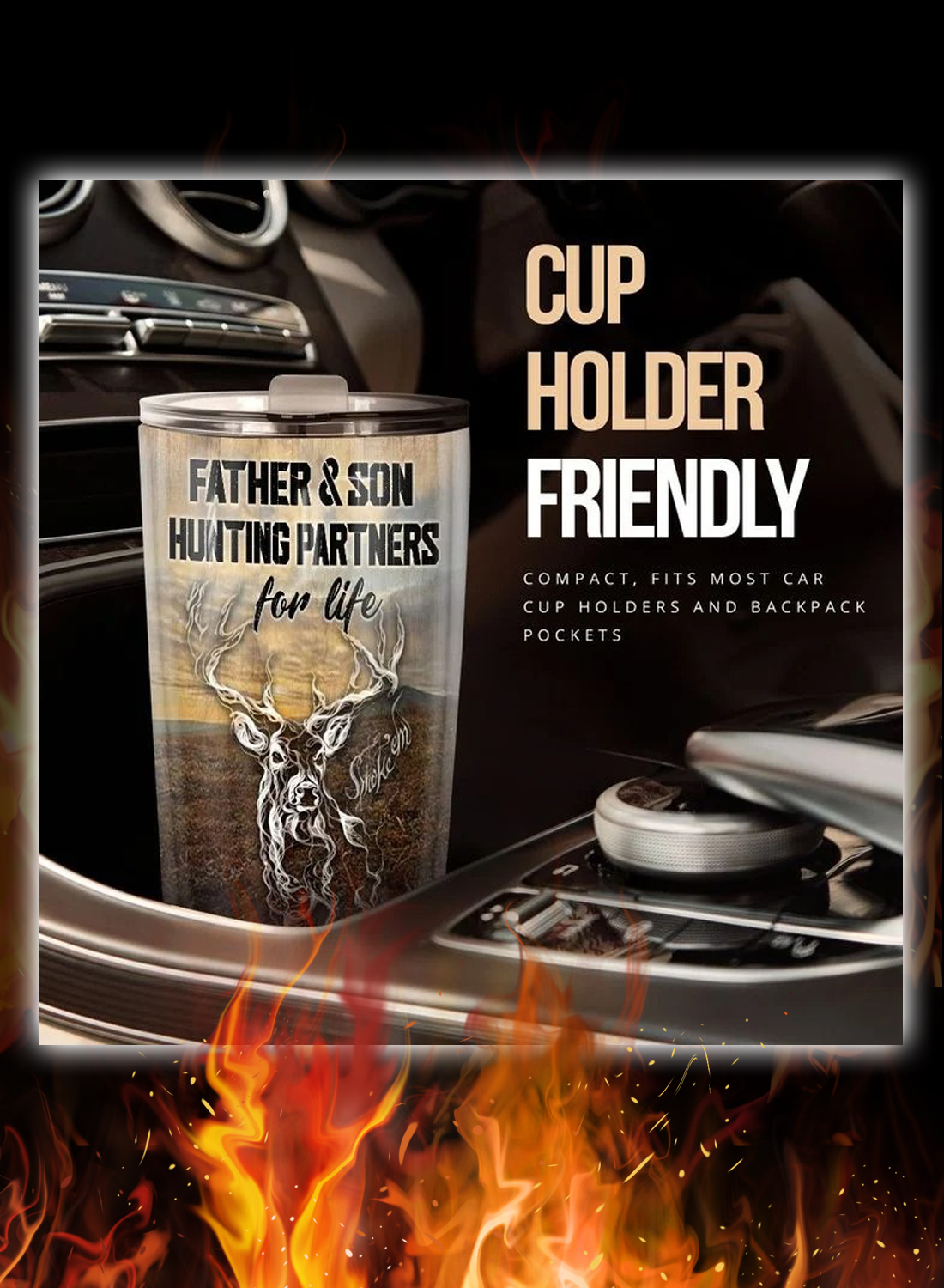 To my dad father and son hunting partners for life tumbler 2