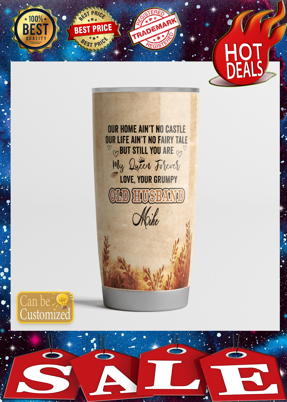 To my wife personalized custom name tumbler 2