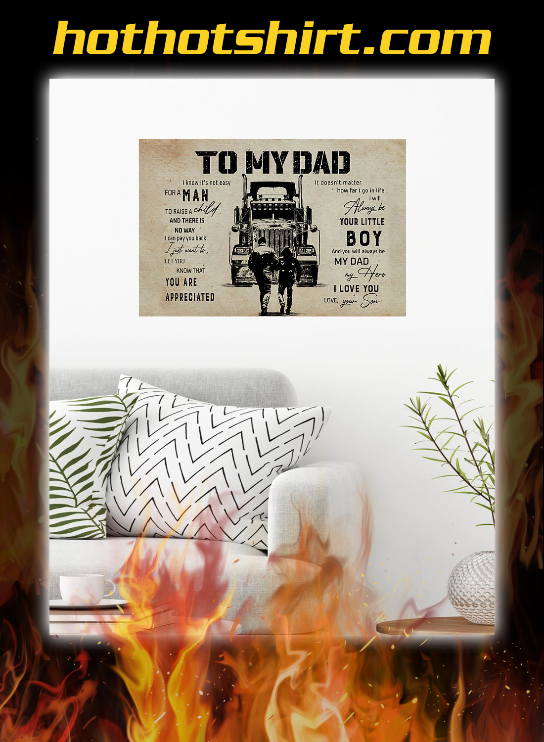 Truck driver to my dad son poster 1