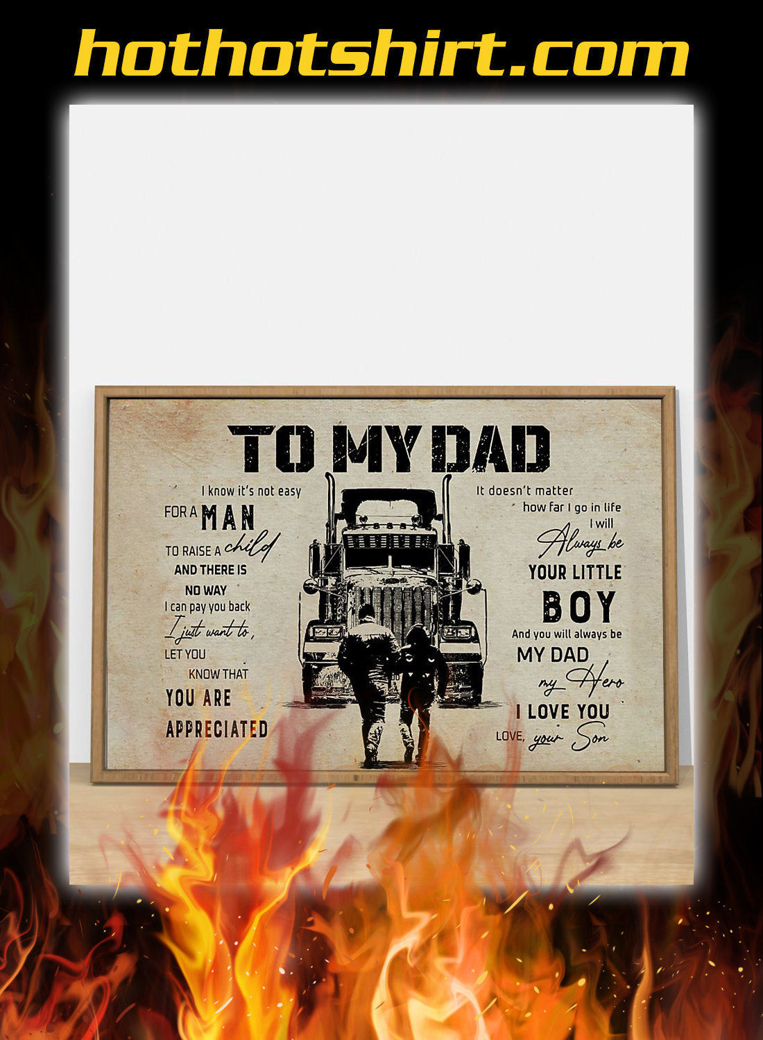 Trucker son to my dad poster 3